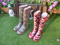 Wellington boots size 6 & 4