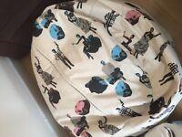 Large Retro Pop Art Printed Patterned Bean Bags