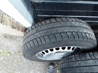 VW Transporter T5 wheels and tyres.,Used.