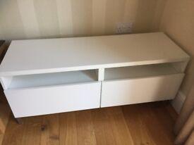 IKEA Besta sideboard unit in white