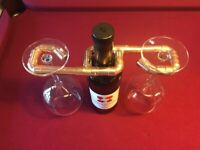 Handmade Copper Pipe Wine Rack