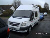 ford transit 2008 motor caravan built 2015 2 berth used for 4 days only selling due to ill health