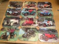 Vintage car mats and coasters