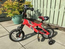 Boys Red and Black Jeep TR12 Junior 12inch bike - light use