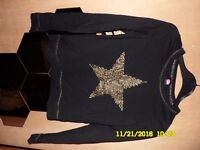 long sleeve shirts with star in front