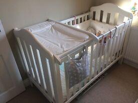 Mamas and papas cot and organic mattress