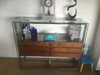 Side board coffee table nest of tables glass heavy