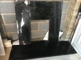 Genuine Granite Hearth & Backpanel