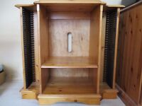 Stacking Stereo Storage Unit in Pine.