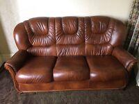 Vintage retro leather sofa