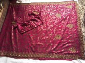 Indian Ethnic Bollywood Beautiful Party WEAR EID Designer Saree Sari Size 560cm £20 now offer £18