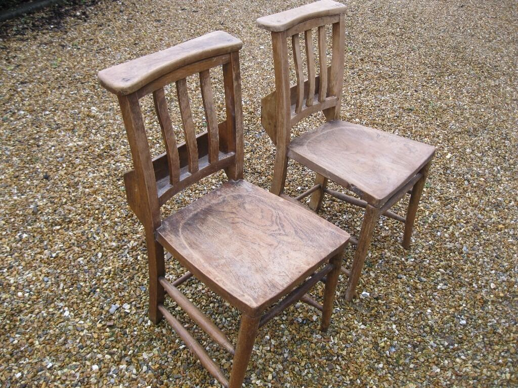 A Pair Of Old Church Chairs Different Chapel Chairs Victorian Pews Benches Also For Sale
