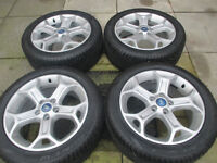 """ford focus mondeo transit connect 17"""" alloy wheels all tyres are like new"""