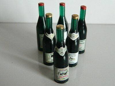 (KP1-11) DOLLS HOUSE PACK OF 6 RED WINE BOTTLES