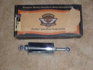 Genuine HD Chrome Low rear suspension shocks- New