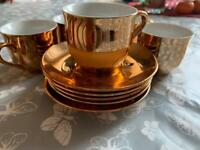Mini cups with saucer plates