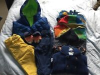 Brightly coloured boys 9-12 month winter bundle
