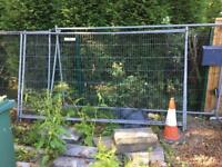 Used Heras Fencing Panels and feet