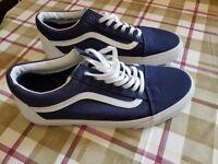 Van's Mens Trainers - Brand new, never worn, Navy, size 11.5