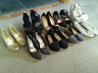 Ladies shoes size 5 hardly used 9 pairs