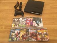 320gb SLIM PS3 CONSOLE with 9 GAMES £65 no offers (PlayStation 3)