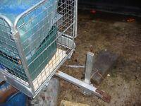 garden trailer galvanized ready to use on farms garden or etc
