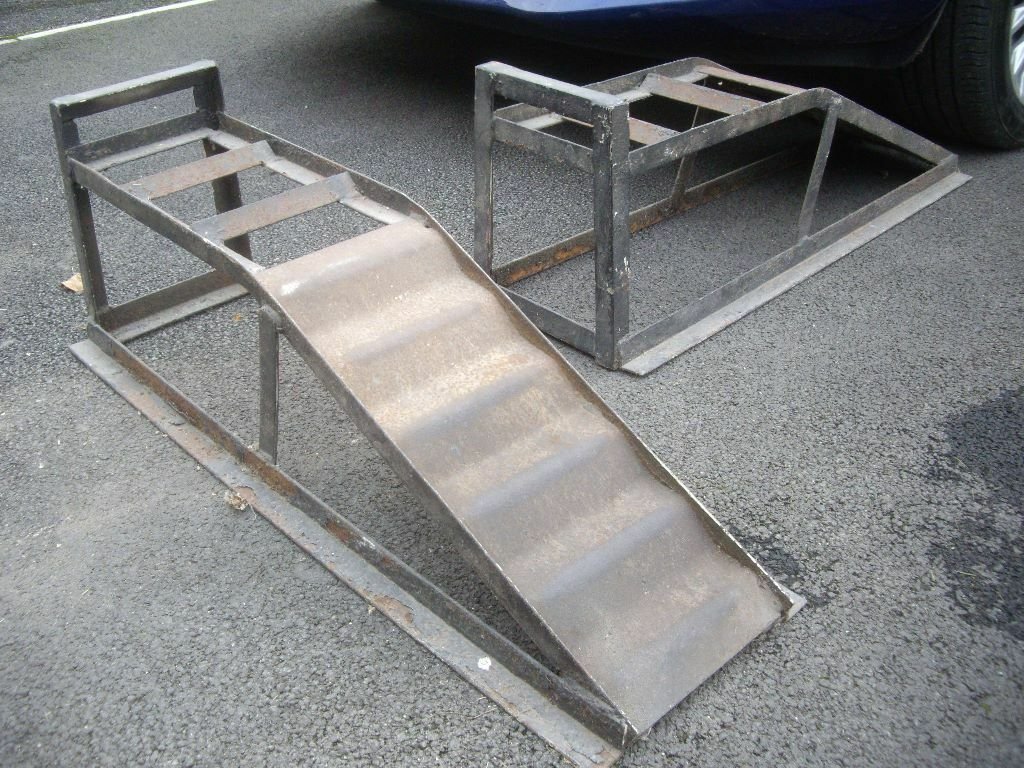 Diy Car Ramps : Diy car maintenance steel ramps in salisbury
