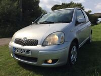 EXCELLENT CONDITION TOYOTA YARIS COLOUR COLLECTION,1.0CC 3 DOOR,MOT FEB 2017,LOW MILES,FULL HISTORY