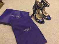Jimmy Choo electric blue strappy sandals