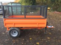 New 1.5 Ton Tipping Trailer with Mesh Sides for Compact tractor