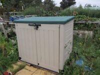 Very good conditions garden storage.