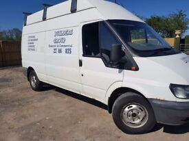 Ford transit deisel lwb high roof moted roof rack