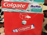 12 tubes of Colgate max white with crystals 100ml tube £10