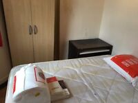 semi-double room with double bed all bills inclusive near station @ E13 9DA available 1 august!!