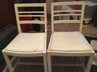 Pair of Vintage Retro Chairs - Shabby Chic / Antique