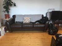 Urgent sale: 3 Seater Real Leather Sofa