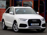 AUDI Q3 2.0 TDI S LINE 5dr (150) ** Lovely Low Miles Example ** (white) 2015