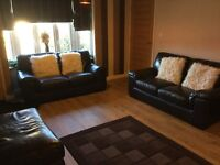 Two 2 seater sofas, chair and footstool
