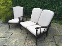 Ercol sofa and armchair SUITE vintage retro MID CENTURY conservatory