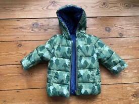New Reversible Coat for baby 4-6m 70cm green blue