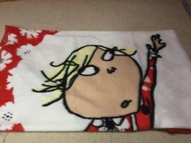 Charlie and Lola fleecy blanket