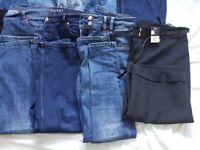 Size 14 jeans/leggings/crop trouser bundle