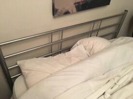 Steel double bed frame - collection from SW2