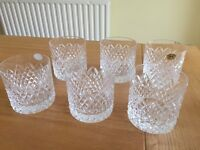 Tyrone crystal whiskey glasses