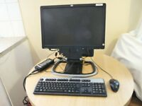 "Job Lot of 5 HP Compaq 8000 Elite Ultra Slim Desktop Computer with 19"" LCD Monitor Export"