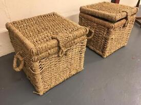 2 wicker boxes in good condition