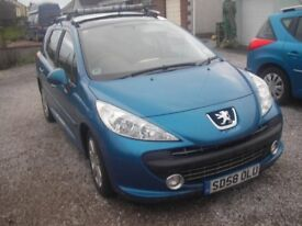 PEUGEOT 207SW SPORT ESTATE 1.6HDI 2008 IMMACULATE CONDITION.