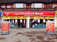 Dan's Carpets and Wood. Specialists in all domestic and commercial flooring. Free Estimates.