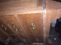 Chest of drawers that may of held a mirror vintage, retro furniture