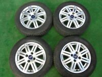 """FORD FOCUS, FIESTA ZETEC ST 15"""" inch ALLOY WHEELS WITH TYRES"""